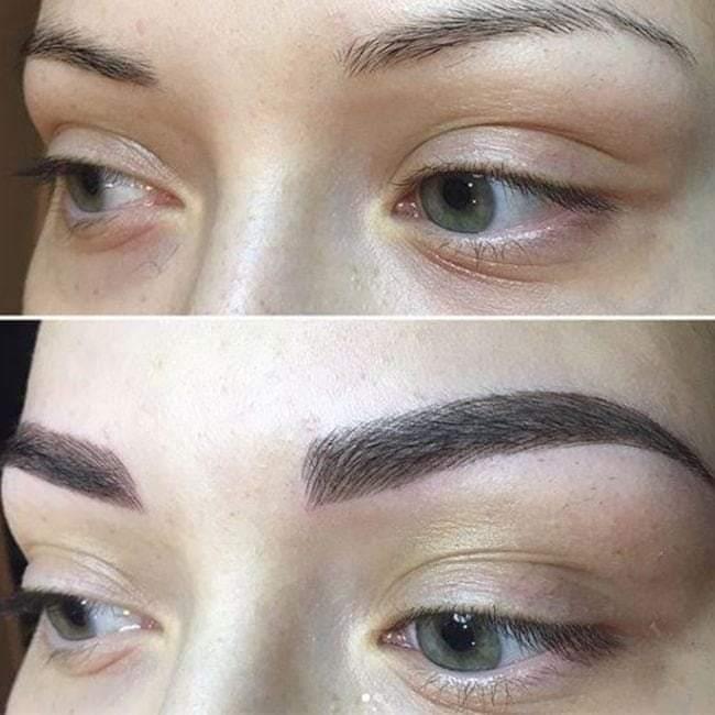 permanentní make-up obočí metoda TAFFY