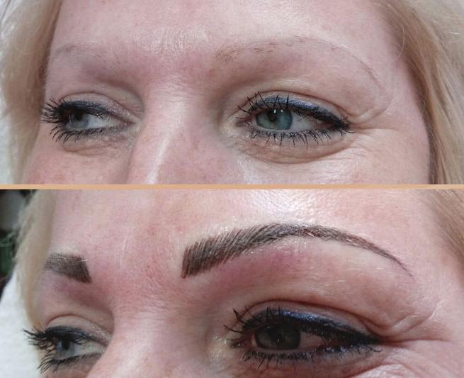 permanentní make up obočí metoda taffy