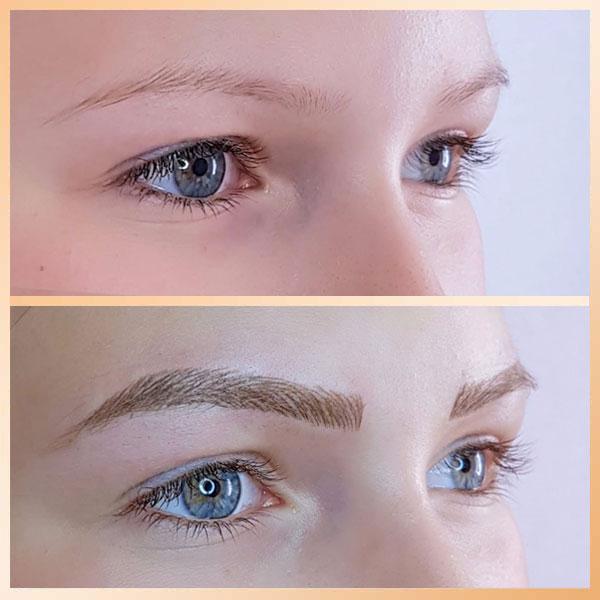 permanentní make-up obočí - metoda TAFFY